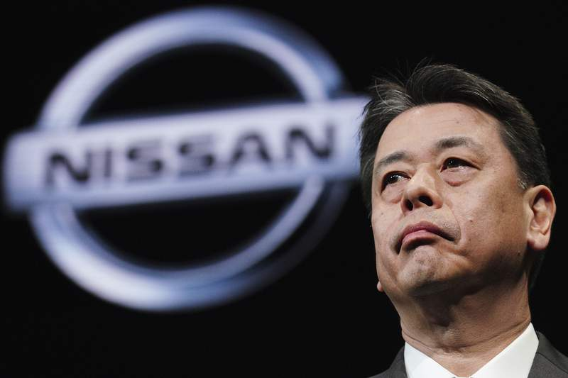 FILE - In this Dec. 2, 2019, file photo, Nissan Chief Executive Makoto Uchida speaks during a press conference in the automaker's headquarters in Yokohama, near Tokyo. Uchida told a Japanese court on Wednesday, July 7, 2021 that the companys former chairman, Carlos Ghosn, had held too much power, failed to listen to others, and stayed on for too long. (AP Photo/Eugene Hoshiko, File)