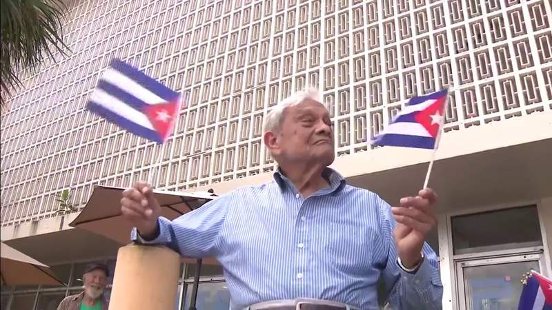 Sout Florida's older Cubans hope the latest events on the island will finally make a difference