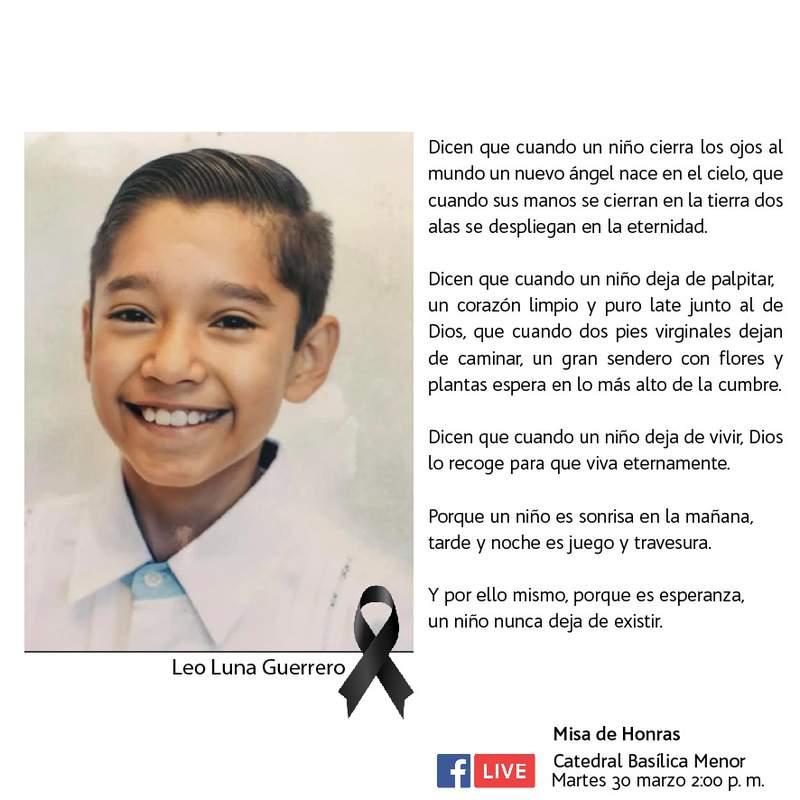 Obituario de Leo Luna Guerrero.