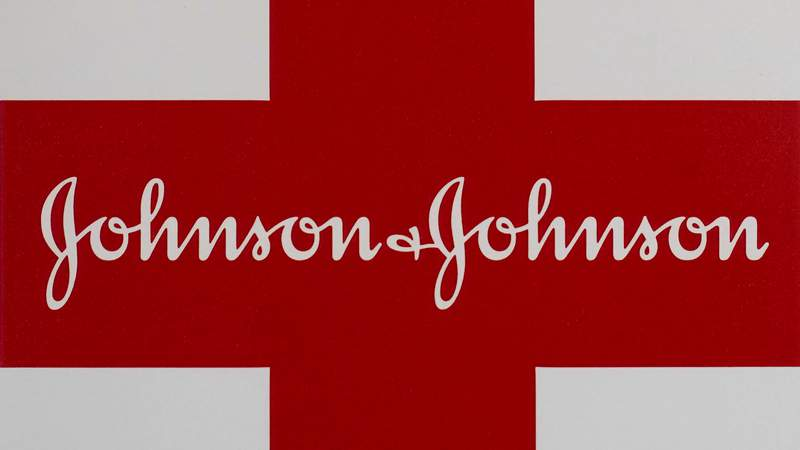 This Feb. 24, 2021 photo shows a Johnson & Johnson logo on the exterior of a first aid kit in Walpole, Mass. A potential HIV vaccine being developed by Johnson & Johnson did not provide protection against the virus in a mid-stage study, the drugmaker said Tuesday, Aug. 31, 2021. J&J plans to end that study, which involved young women in sub-Saharan Africa. But researchers will continue a separate, late-stage trial involving a different composition of the vaccine in men and transgender people. (AP Photo/Steven Senne, file)