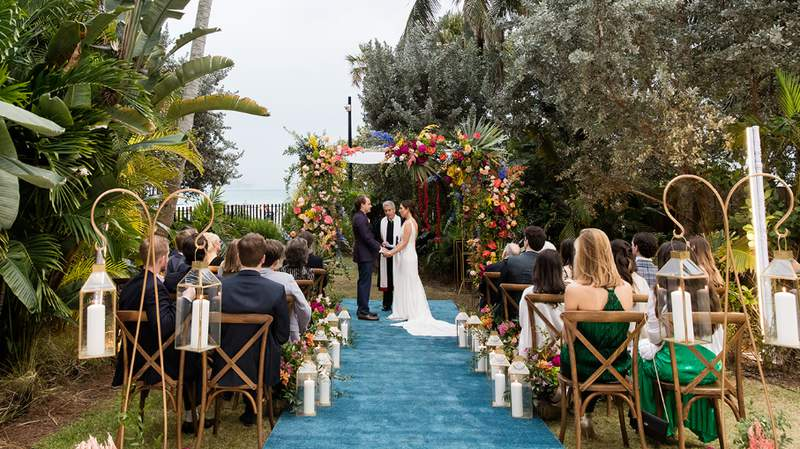 Madeline and Tyler wed at Faena during the COVID-19 pandemic.