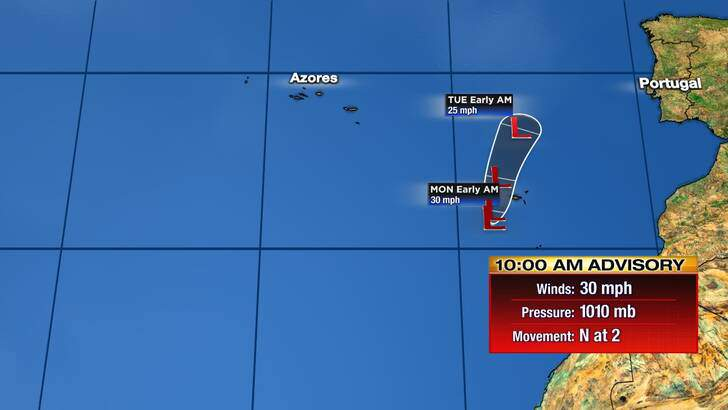 Tropics Forecast Cone at 9:31 Sunday Morning, November 15th