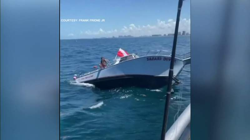 Boat with 13 people aboard begins sinking off Pompano Beach