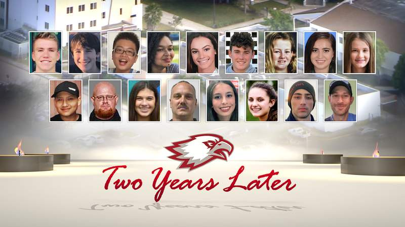 These are the 17 victims of the mass shooting at Marjory Stoneman Douglas High School in Parkland two years ago.