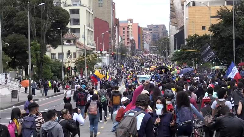Nationwide protests against tax reform turn deadly in Colombia