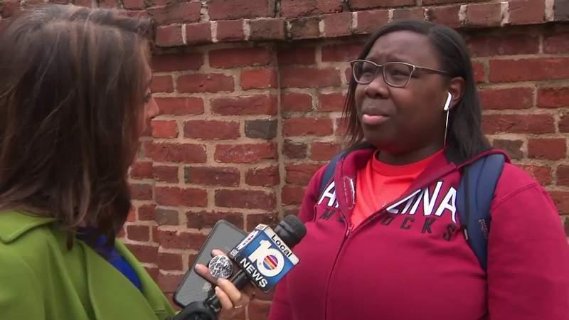 Local 10 News Reporter Glenna Milberg talks to voters in South Carolina