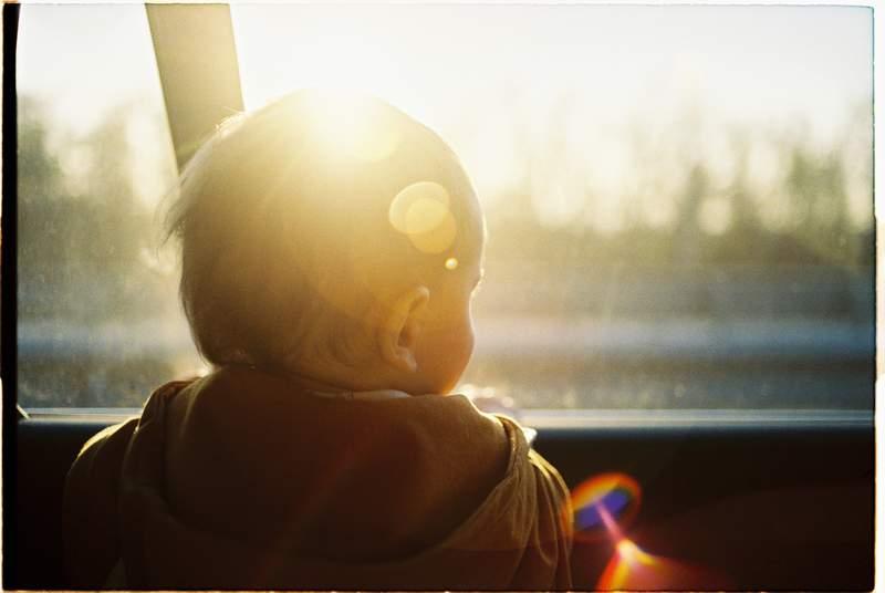 Child in a car.