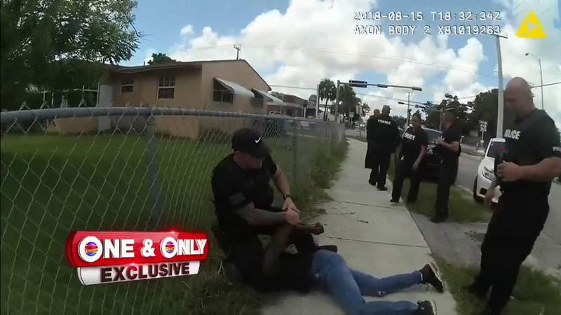 Video shows officer kneeling on man who says 'I can't breathe' in Miami-Dade