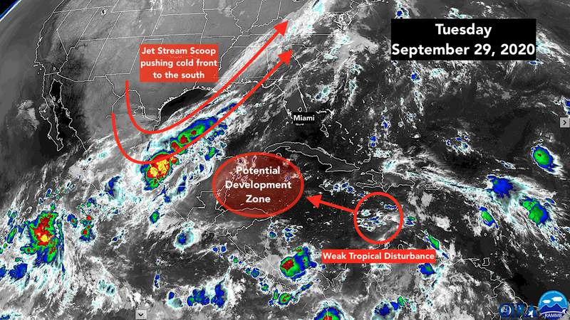 Sept. 29 satellite image of the tropics.
