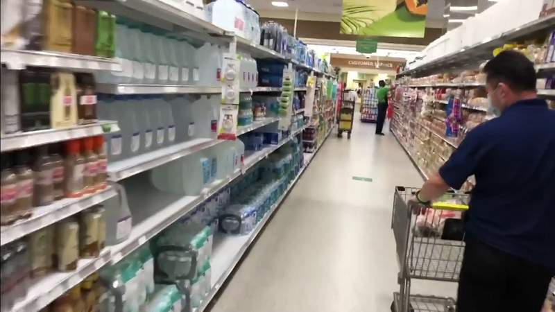 Supplies are ready for shoppers ahead of Tropical Storm Isaias
