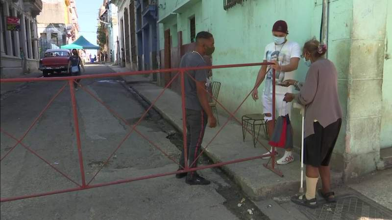 Cuban officials restrict access to areas of Havana
