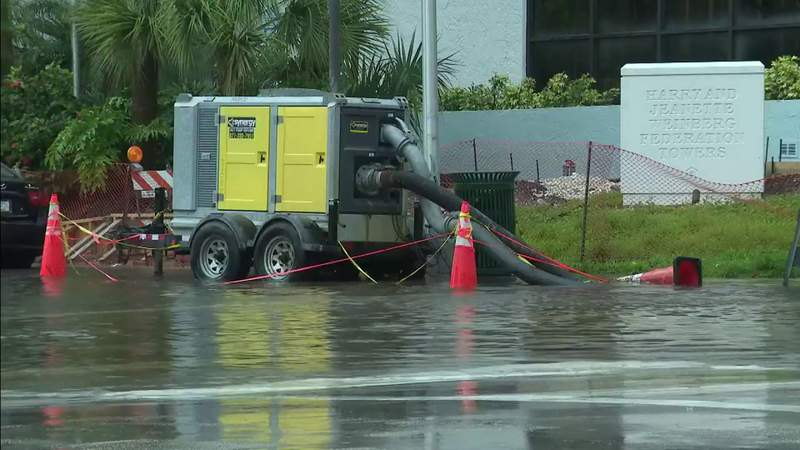 Heavy rain brings flooding issues to parts of Miami Beach