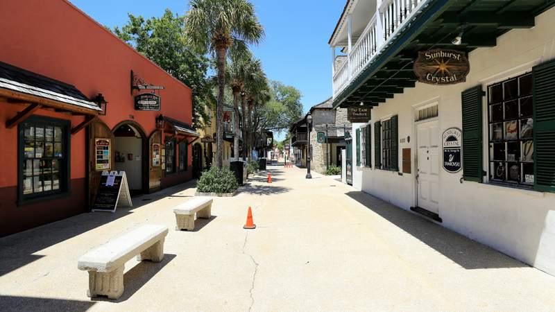 A view of Saint George Street in Saint Augustine, Florida. Photo by Sam Greenwood