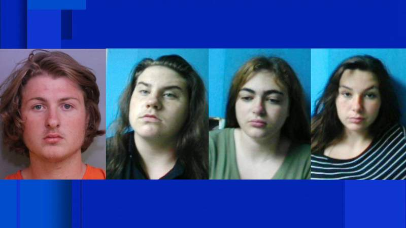 18-year-old Elijah Stansell, 16-year-old Raven Sutton, 15-year-old Kimberly Stone, and 14-year-old Hannah Eubank