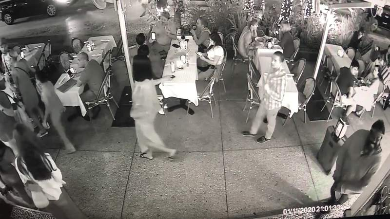 Surveillance video shows man brandishing knife in South Beach
