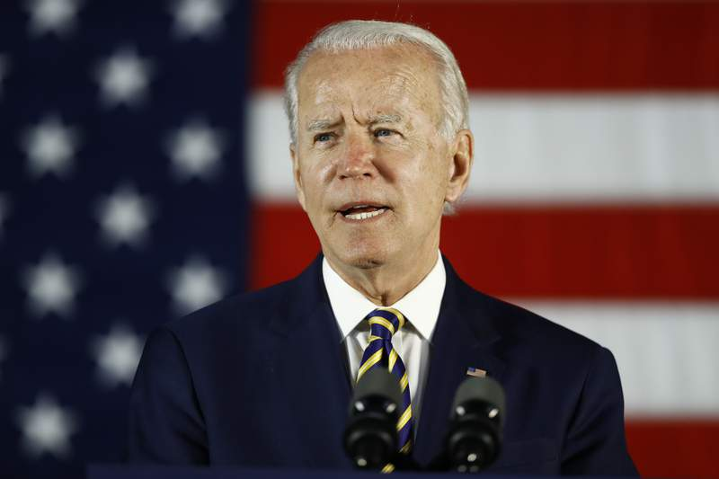 In this June 17, 2020, photo, Democratic presidential candidate, former Vice President Joe Biden speaks in Darby, Pa. John Bolton's claims that President Donald Trump urged Chinas Xi Jinping to help him win reelection is casting a renewed spotlight on a major front in the 2020 presidential campaign: the battle over who has been softer on Beijing. China already loomed large in the contest as Trump and Biden, have traded accusations over corruption, geopolitical pandering and the presidents wild shifts in tone toward the Asia superpower (AP Photo/Matt Slocum)