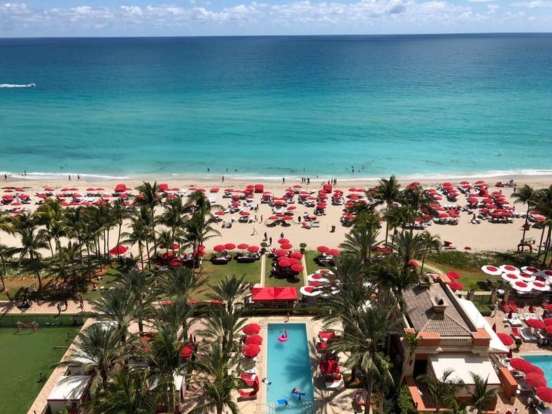 Acqualina Resort and Residences on the Beach in Sunny Isles Beach, Florida.