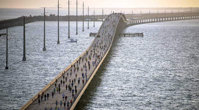 The Seven Mile Bridge Run in the Florida Keys returned Saturday after being cancelled last year because of the coronavirus pandemic.