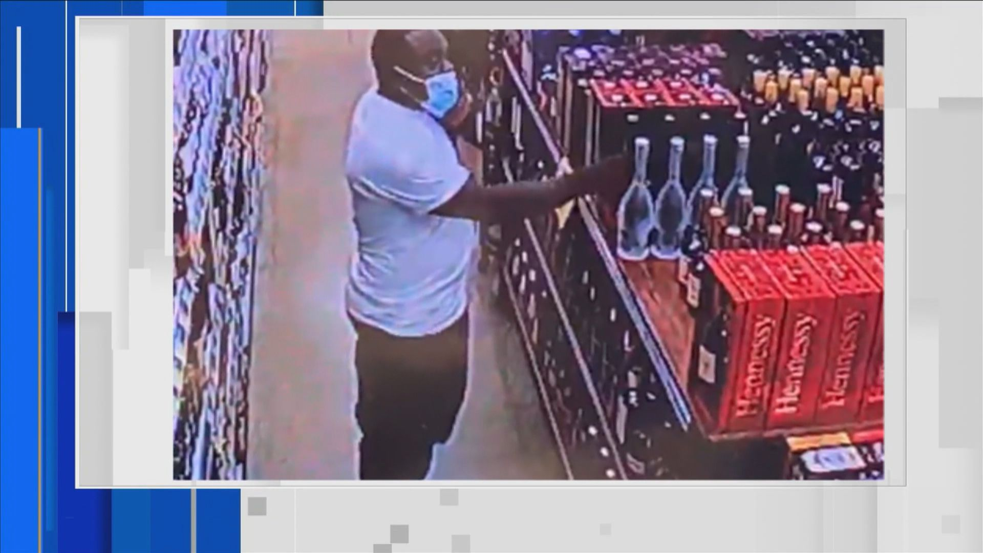 Surveillance video shows a man stealing from a liquor store on Thursday in Miami.