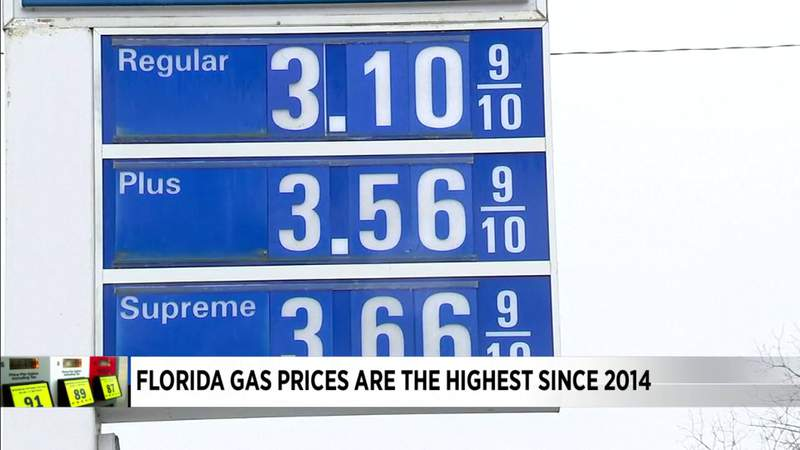 Florida gas prices soar to levels not seen in almost 7 years