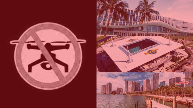 The FAA issued temporary no drone fly zones in Miami-Dade County.