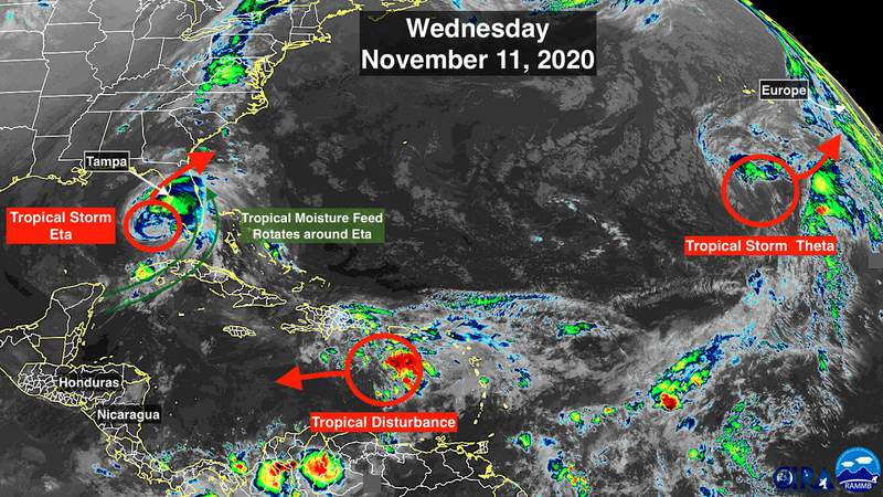 Nov. 11 satellite image of the tropics.