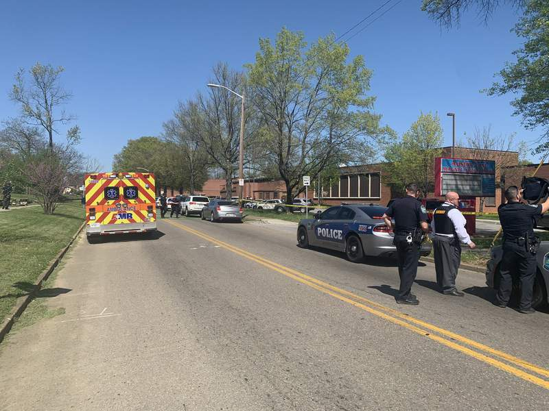 Knoxville, Tenn., police posted this photo on social media Monday afternoon from the scene near a reported school shooting.