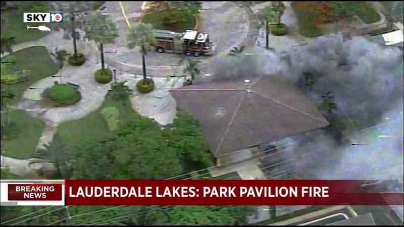 Lauderdale Lakes park pavilion fire contained