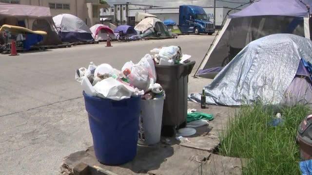 Sex offenders' encampment near Hialeah moves to area near The Hammocks, protesters said Sunday.