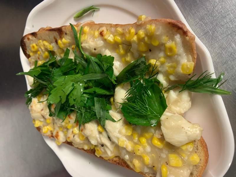 Corn & Crab Toast