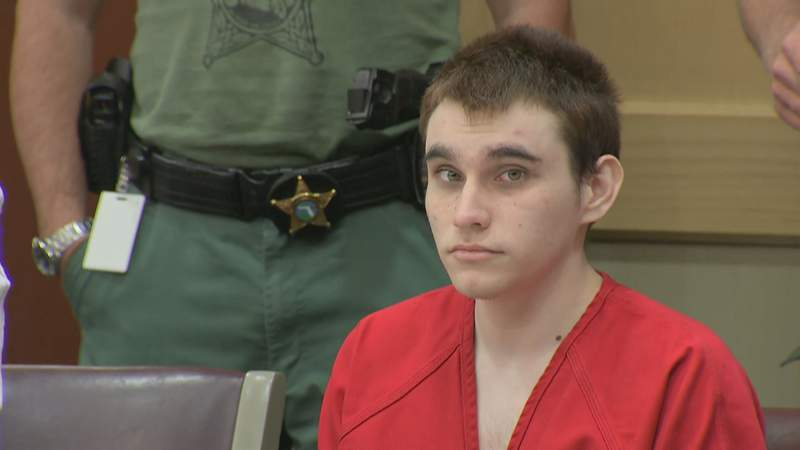 Nikolas Cruz stares into the camera during a hearing at the Broward County courthouse, Jan. 13, 2020, in Fort Lauderdale, Florida.