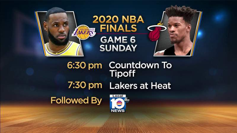 Game 6 of the NBA Finals is Sunday night on Local 10.