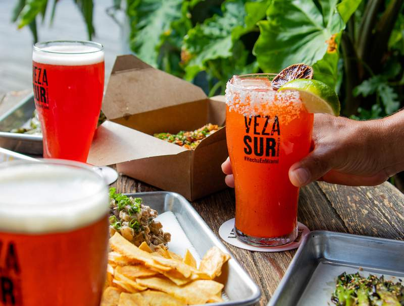 Veza Sur Brewing Co. beers and bites.