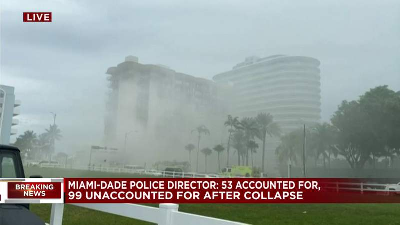 99 people remain unaccounted for following Surfside building collapse