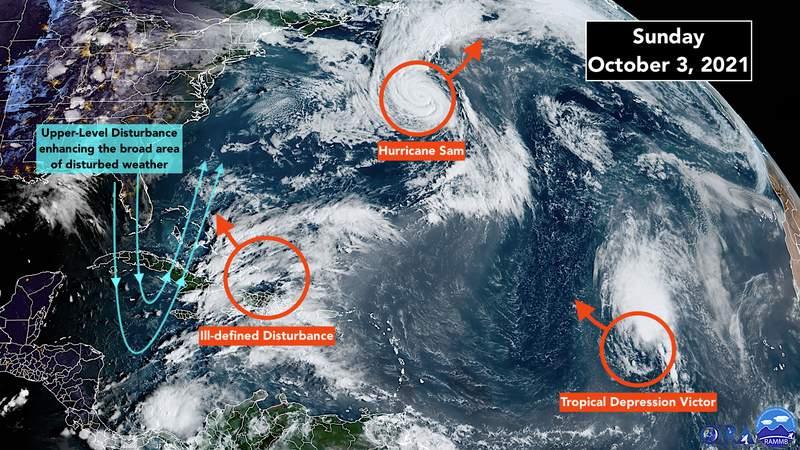 Satellite imaging of the tropical Atlantic.