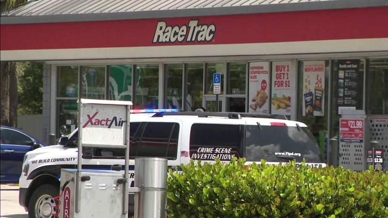 Man shot in front of Fort Lauderdale gas station runs inside, shooter takes off