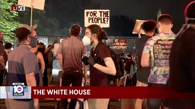Black Lives Matter protesters spend Friday night outside White House