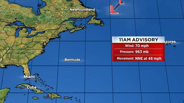 Tropics Forecast Cone at 10:37 Saturday Morning, September 11th