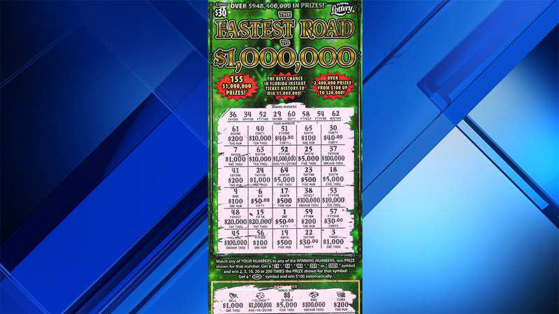 This ticket revealed a $1 million top prize for a Coconut Creek woman.