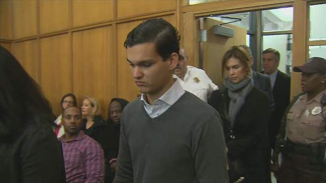 Alejandro Alvarez faces a judge after a hit-and-run crash on the Rickenbacker Causeway that killed a bicyclist and injured another, who was there in court.