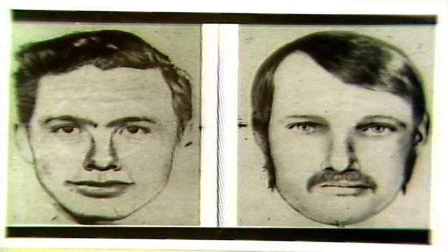 These sketches of two men who were robbing armored cars and banks turned out to be Michael Lee Platt and William Russell Matix.
