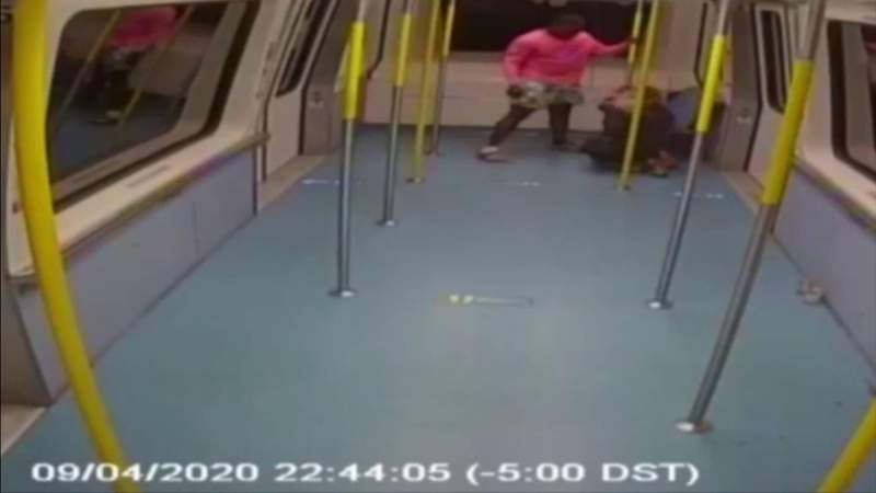 Video shows man attack woman in Metromover