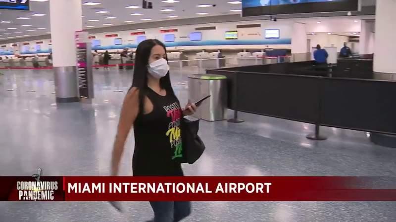 Travelers scarce at Miami International Airport