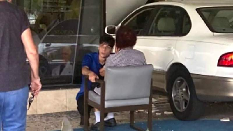 Elderly woman crashes car into medical office building