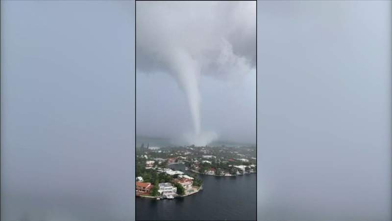 South Florida residents get a scare from tornado that rose from the sea