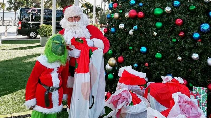 Santa Claus and the Grinch were at the Strong Survivor's Christmas event in Homestead.