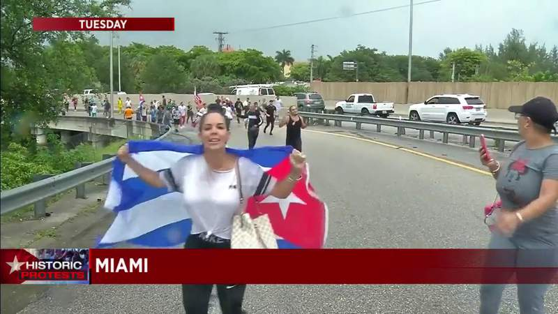 Why weren't Cuba protesters in Miami subject to Florida's new anti-riot law?