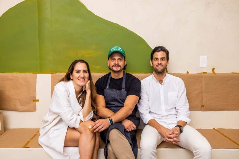 From left to right; Grassfed Culture Hospitality's Pili Restrepo, Chef Sebastián Vargas and Josh Hackler to open Los Felix in Coconut Grove.