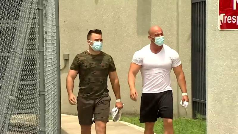 2 Hialeah officers walk out of jail after surrendering to face criminal charges