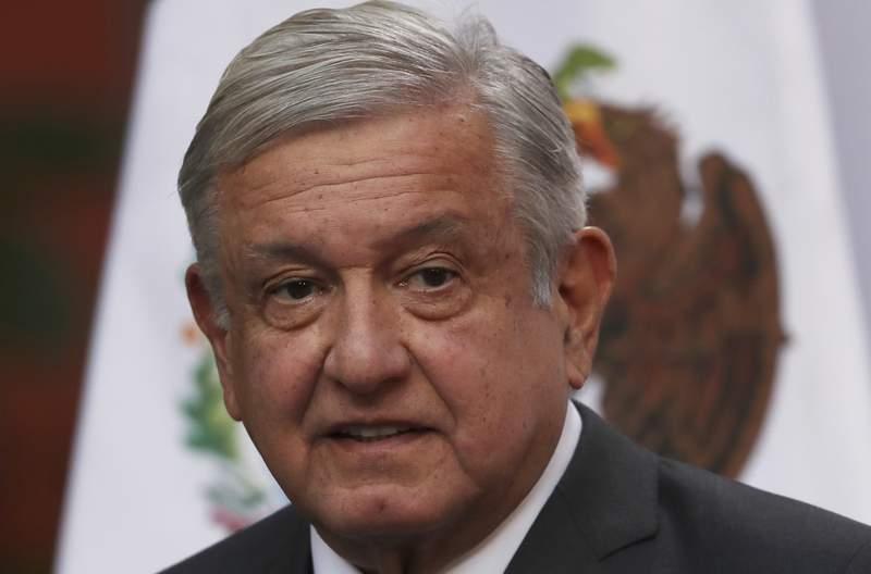 ARCHIVO - En esta fotografa del 1 de diciembre de 2020, el presidente mexicano Andrs Manuel Lpez Obrador habla durante un evento en el Palacio Nacional de la Ciudad de Mxico. (AP Foto/Marco Ugarte, Archivo)